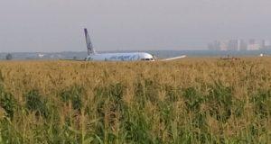 Avionul a aterizat într-un lan de grâu
