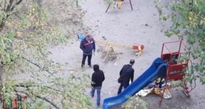 S-a sinucis într-un parc de joacă pentru copii